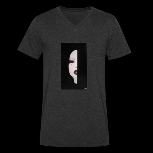 BlackWhitewoman - T-shirt ecologica da uomo con scollo a V di Stanley & Stella