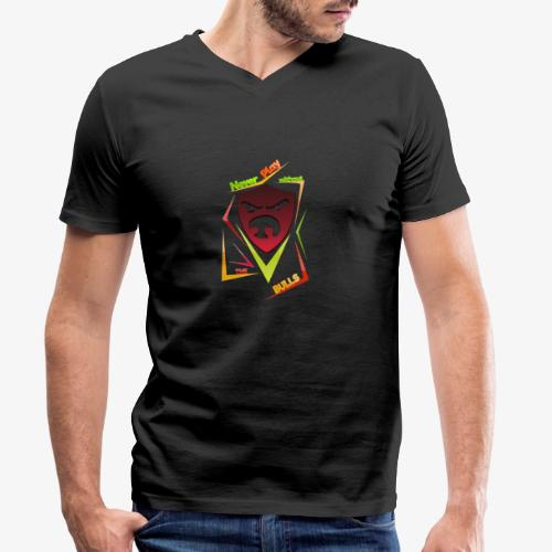 Bulls Shield - Männer Bio-T-Shirt mit V-Ausschnitt von Stanley & Stella