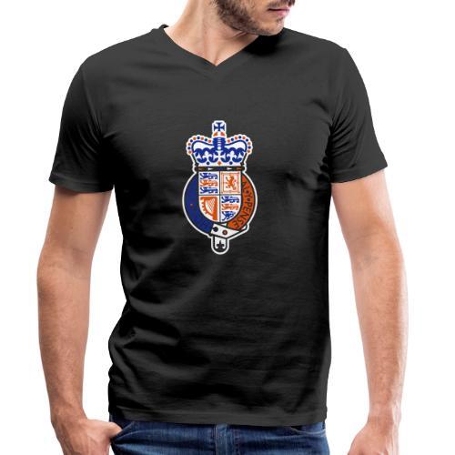 British Seal Pixellamb - Männer Bio-T-Shirt mit V-Ausschnitt von Stanley & Stella