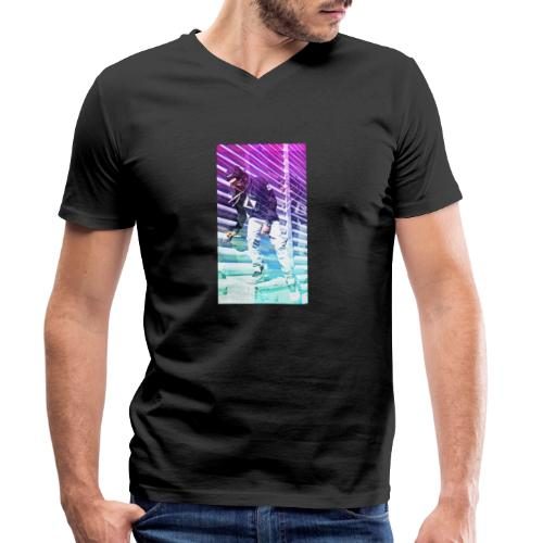 Neon HDR - Men's Organic V-Neck T-Shirt by Stanley & Stella