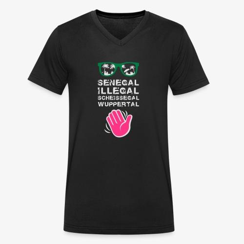 Senegal, illegal, scheissegal, Wuppertal - Männer Bio-T-Shirt mit V-Ausschnitt von Stanley & Stella
