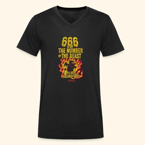 666 Is Not The Number Of The Beast T Shirt - Männer Bio-T-Shirt mit V-Ausschnitt von Stanley & Stella