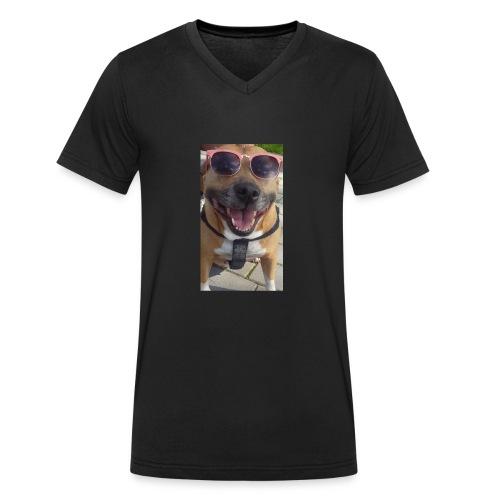 Cool Dog Foxy - Mannen bio T-shirt met V-hals van Stanley & Stella