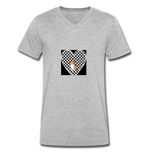 Charlie the Chess Cat - Men's Organic V-Neck T-Shirt by Stanley & Stella