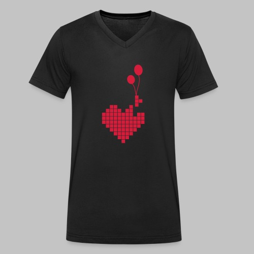 heart and balloons - Men's Organic V-Neck T-Shirt by Stanley & Stella