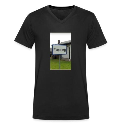 Das meistgeklaute Ortschild in Österreich - Männer Bio-T-Shirt mit V-Ausschnitt von Stanley & Stella