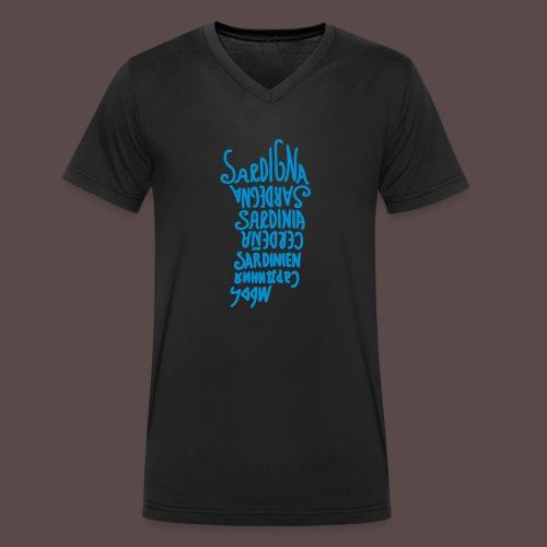 Sardegna, Lingue del mondo - T-shirt ecologica da uomo con scollo a V di Stanley & Stella