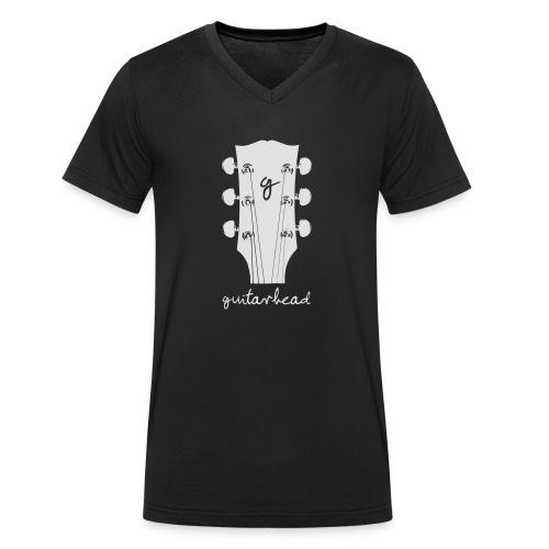 guitarhead - Männer Bio-T-Shirt mit V-Ausschnitt von Stanley & Stella