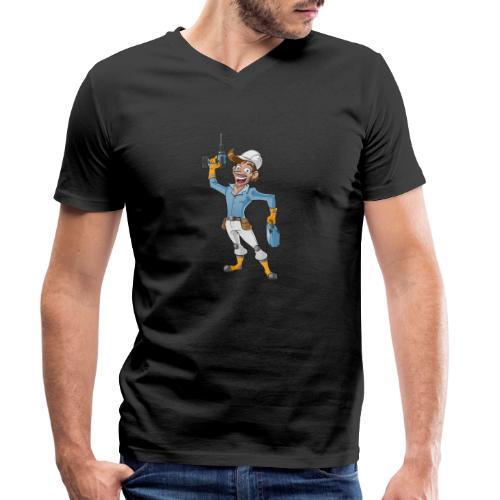 Handwerker Craftsman - Männer Bio-T-Shirt mit V-Ausschnitt von Stanley & Stella