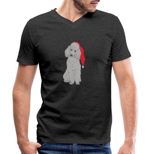 Poodle toy G - christmas - Økologisk Stanley & Stella T-shirt med V-udskæring til herrer