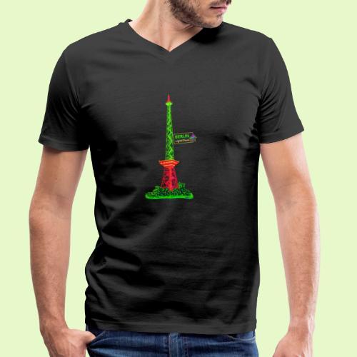 Funkturm / BerlinLightShow / PopArt Style - Männer Bio-T-Shirt mit V-Ausschnitt von Stanley & Stella