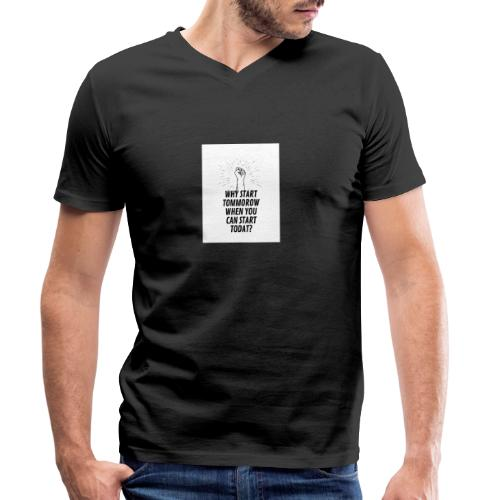 Why wait with accomplishing your dreams? - Økologisk Stanley & Stella T-shirt med V-udskæring til herrer