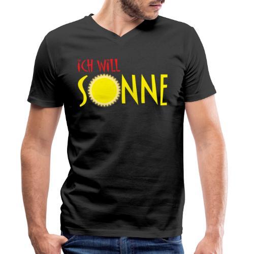 Ich will Sonne - Männer Bio-T-Shirt mit V-Ausschnitt von Stanley & Stella