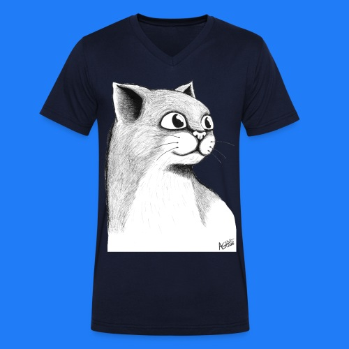 CAT HEAD by AGILL - T-shirt bio col V Stanley & Stella Homme