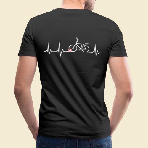 Radball   Heart Monitor White - Männer Bio-T-Shirt mit V-Ausschnitt von Stanley & Stella