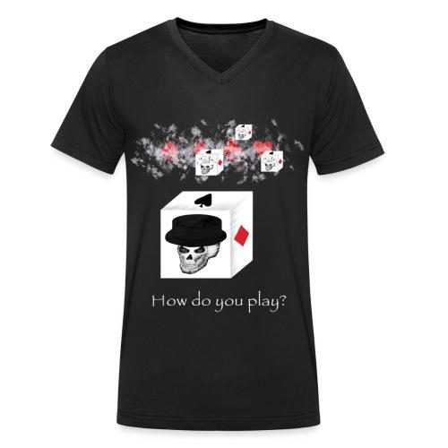 poker gross - Männer Bio-T-Shirt mit V-Ausschnitt von Stanley & Stella