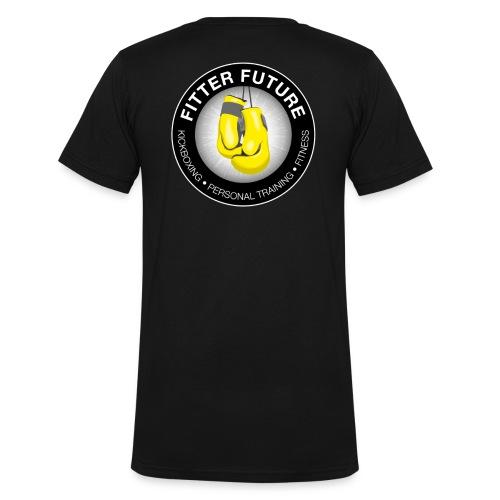 Fitter Future logo - Mannen bio T-shirt met V-hals van Stanley & Stella