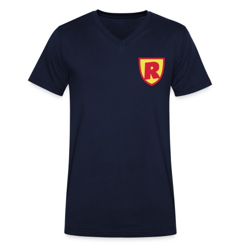 Superhjälte från RoJteatern - Ekologisk T-shirt med V-ringning herr från Stanley & Stella
