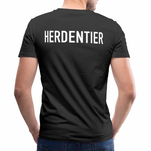 Herdentier - Männer Bio-T-Shirt mit V-Ausschnitt von Stanley & Stella