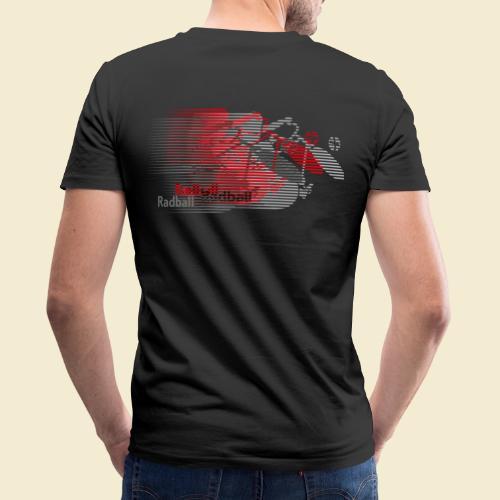 Radball | Earthquake Red - Männer Bio-T-Shirt mit V-Ausschnitt von Stanley & Stella