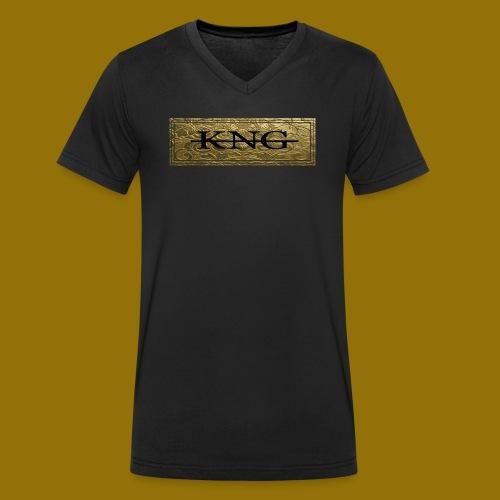 KNG TSHIRT LOGO png - Männer Bio-T-Shirt mit V-Ausschnitt von Stanley & Stella
