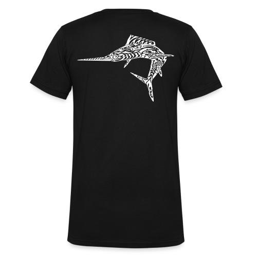 The White Marlin - Men's Organic V-Neck T-Shirt by Stanley & Stella