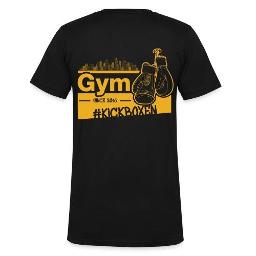 Gym Druckfarbe Orange - Männer Bio-T-Shirt mit V-Ausschnitt von Stanley & Stella