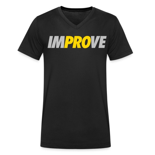 IMPROVE - Männer Bio-T-Shirt mit V-Ausschnitt von Stanley & Stella