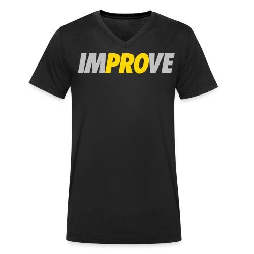 Improve only png - Männer Bio-T-Shirt mit V-Ausschnitt von Stanley & Stella