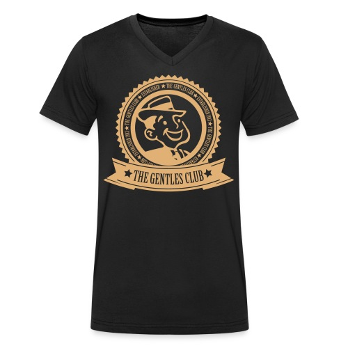 The Gentles Club Logo - Men's Organic V-Neck T-Shirt by Stanley & Stella
