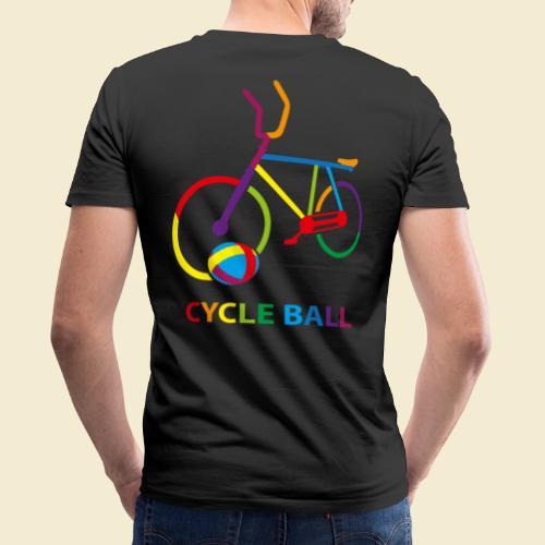 Radball   Cycle Ball Rainbow - Männer Bio-T-Shirt mit V-Ausschnitt von Stanley & Stella