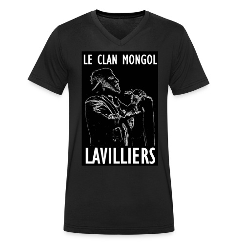 T Sirt LAVILLIERS blanc new jpg - T-shirt bio col V Stanley & Stella Homme