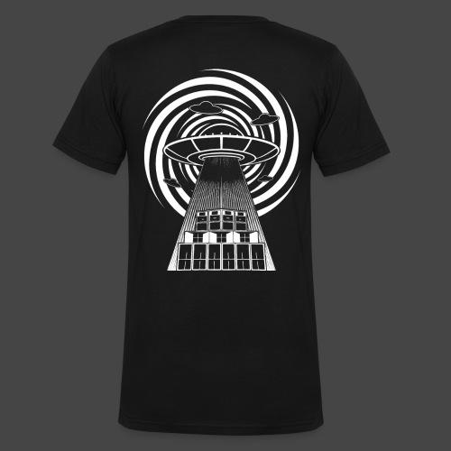 Alien Tekno 23 UFO frameless - T-shirt ecologica da uomo con scollo a V di Stanley & Stella