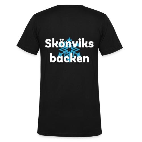Skönvik stor 1 - Ekologisk T-shirt med V-ringning herr från Stanley & Stella