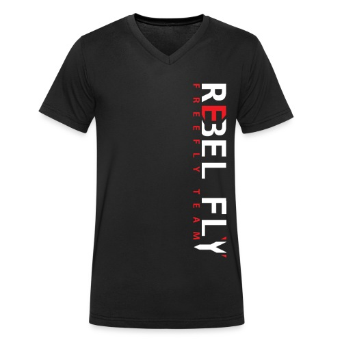 RebelFlyFreeflyTeamT ShirtPrint png - Økologisk T-skjorte med V-hals for menn fra Stanley & Stella