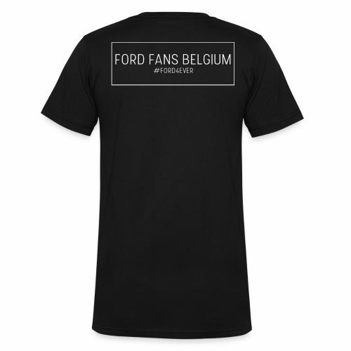 Black - Mannen bio T-shirt met V-hals van Stanley & Stella