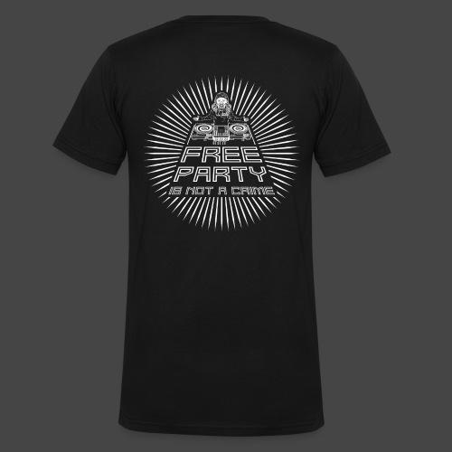 la festa gratuita non è un crimine tekno 23 - T-shirt ecologica da uomo con scollo a V di Stanley & Stella