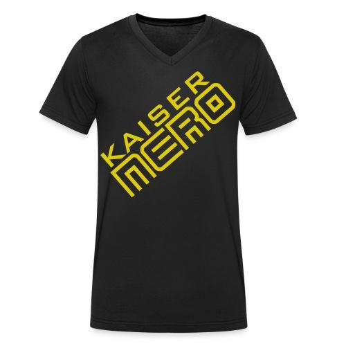 19758 2Ckaiser NERO Logo schraeg Plus - Men's Organic V-Neck T-Shirt by Stanley & Stella