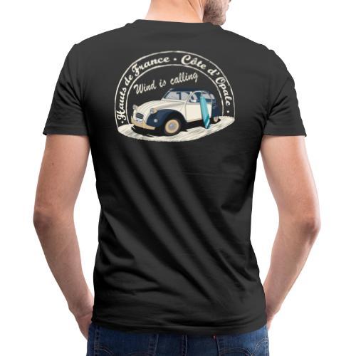 2CV - Wind is calling ( Le vent m'appelle!) - T-shirt bio col V Stanley & Stella Homme