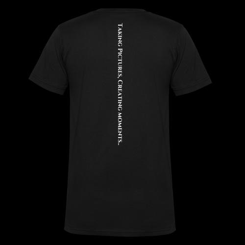 Taking Pictures Creating moments vit txt - Ekologisk T-shirt med V-ringning herr från Stanley & Stella