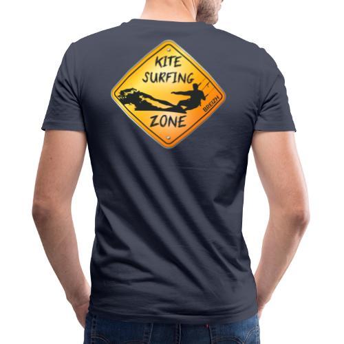 KITESURFING ZONE BREIZH - T-shirt bio col V Stanley & Stella Homme