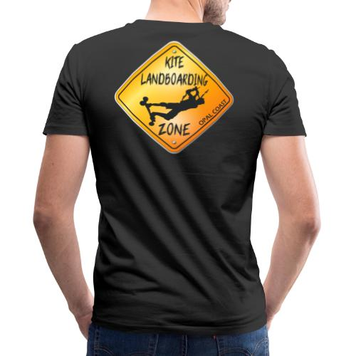KITE LANDBOARDING ZONE OPAL COAST - T-shirt bio col V Stanley & Stella Homme