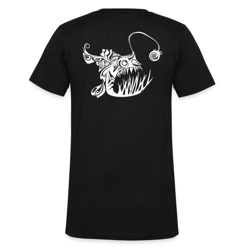Cranky anglerfish - Men's Organic V-Neck T-Shirt by Stanley & Stella