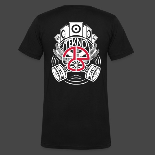 Masque à gaz Tekno 23 - T-shirt bio col V Stanley & Stella Homme