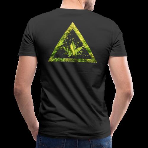 Marijuana Cannabisblatt Triangle with Splashes - Männer Bio-T-Shirt mit V-Ausschnitt von Stanley & Stella