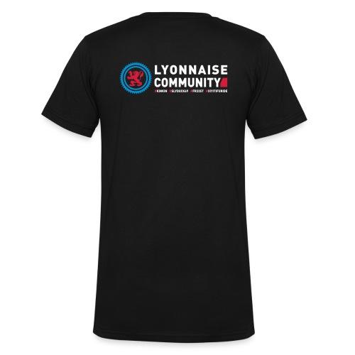Lyonnaise Community Blck - T-shirt bio col V Stanley & Stella Homme