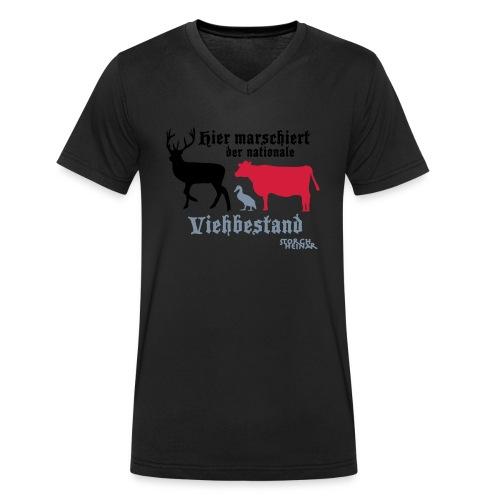 viehbestandnational2 - Männer Bio-T-Shirt mit V-Ausschnitt von Stanley & Stella