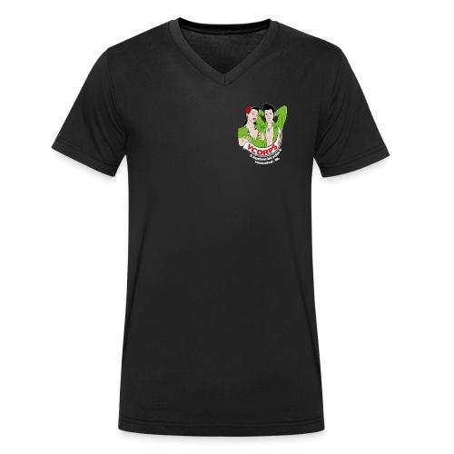VCorps Logo PinUps - Mannen bio T-shirt met V-hals van Stanley & Stella