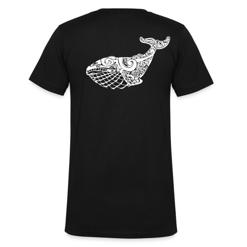 The Blue Whale - Men's Organic V-Neck T-Shirt by Stanley & Stella