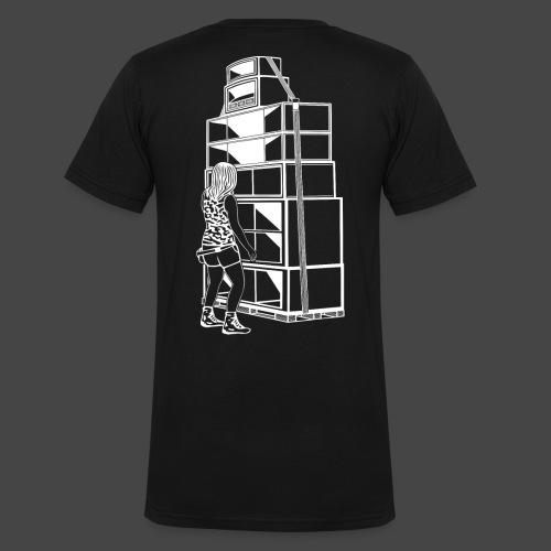 soundsystem tekno 23 fille - T-shirt bio col V Stanley & Stella Homme